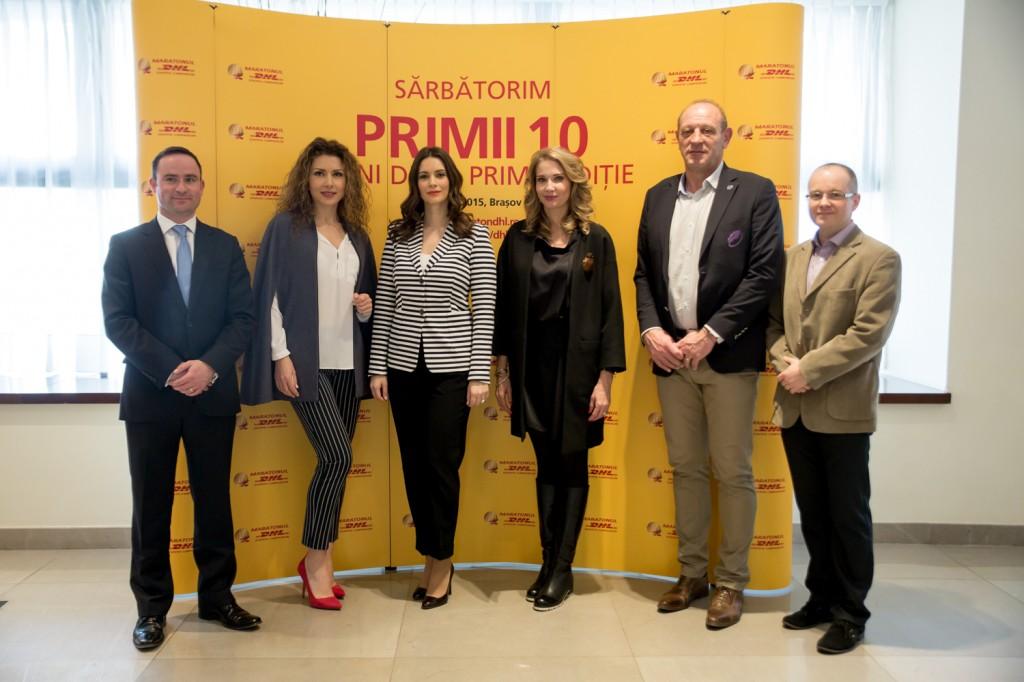 Daniel Kearvell, Carmen Bruma,Andreea Berecleanu, Ileana Badiu, Haralambie Dumitras (FRR) Serban Damian (Ro-Club Maraton)