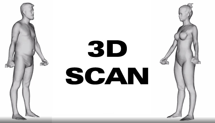 scanarea în greutate a corpului 3d