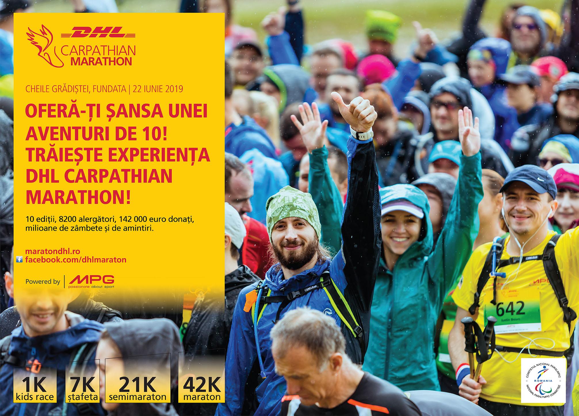 DHL Carpathian Marathon powered by MPG continuă să lupte pentru visurile sportivilor paralimpici români