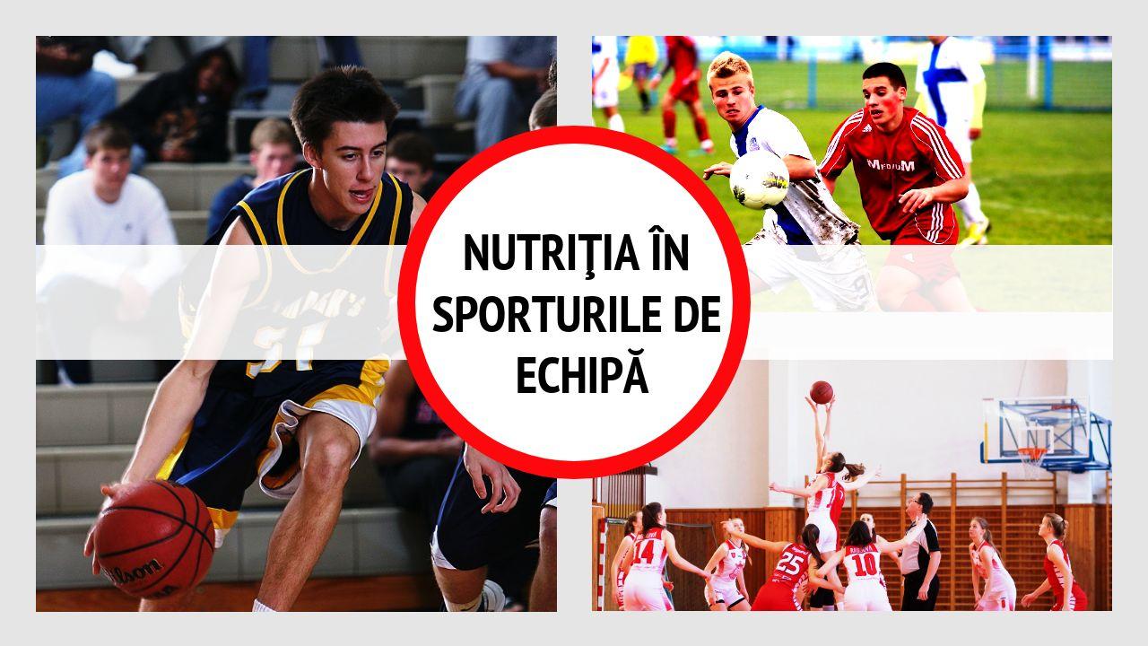 Ce mănâncă jucătorii de fotbal, baschet, handbal, volei – nutriţia în sporturile de echipă