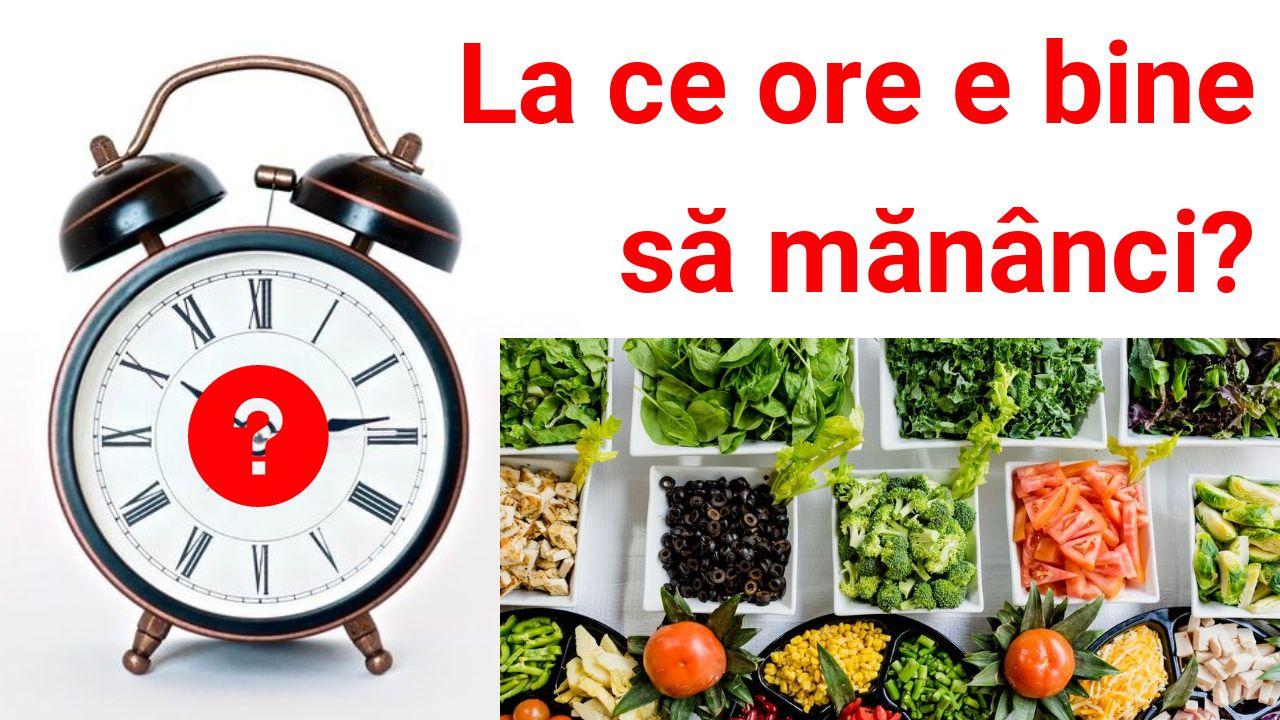 La ce ore e bine sa mananci?